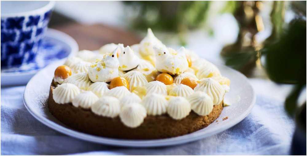Tårta med mango och passion.