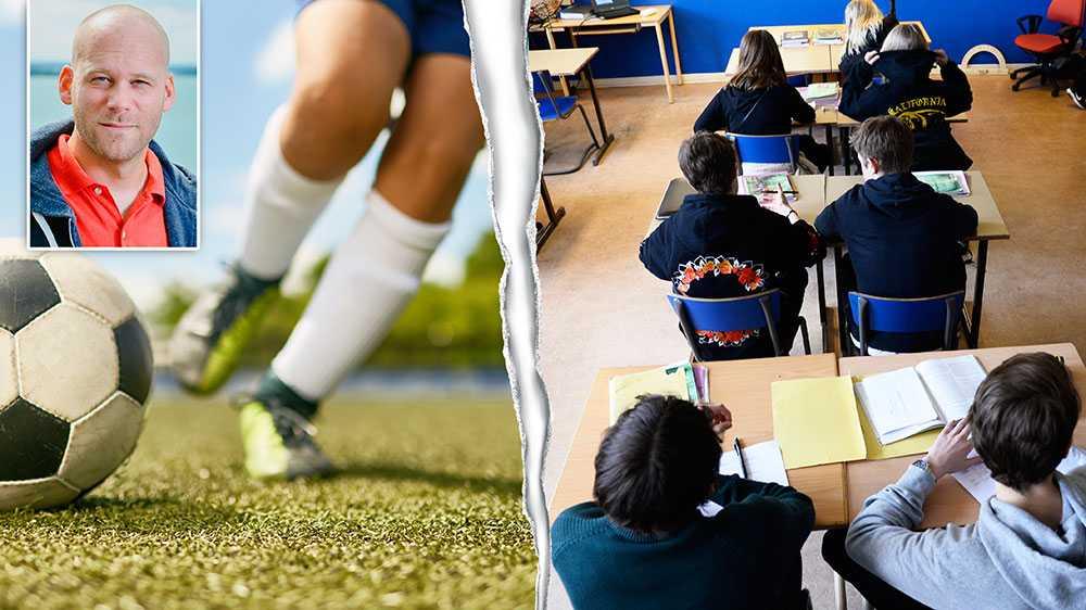 Det är härligt när människor hittar aktiviteter de brinner för. Men när hinner elever, som läser ett studieförberedande program, arbeta med sina studier om de spelar fotboll sju gånger i veckan, skriver gymnasieläraren Henrik Helmér.