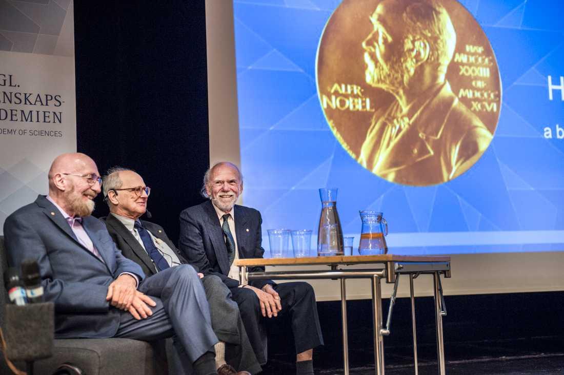 Kip Thorne, Rainer Weiss och Barry Barish tilldelades förra årets fysikpris. Arkivbild.