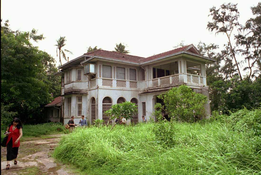 Aung San Suu Kyis hus i Rangoon där hon tillbringat större delen av de senaste 20 åren.