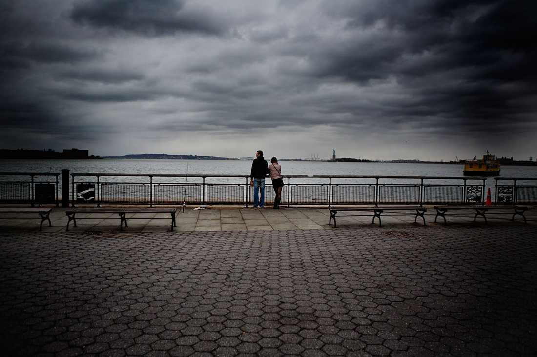 Manhattan inför stormen.