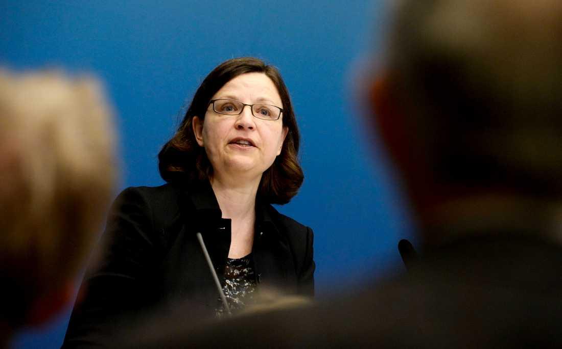 """""""På Skolverket är vi djupt olyckliga över att det har tagit så lång tid"""", säger generaldirektör Anna Ekström."""