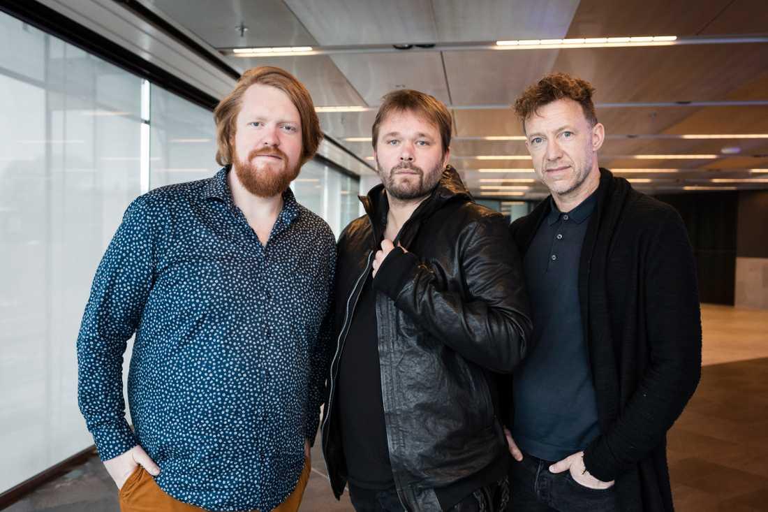 """Spelar i """"Robin Hood"""". Martin Almgren, Joakim Nätterqvist och Patrik Martinsson gör roller i nya musikalen."""