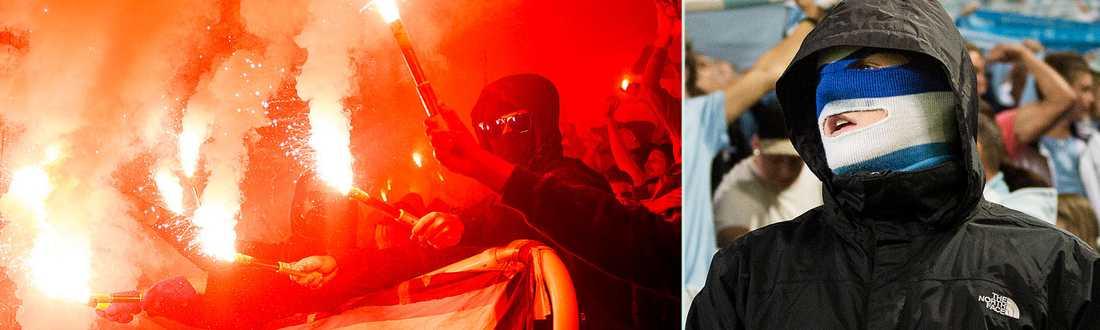 kval till Champions League När Malmö FF mötte Red Bull Salzburg brände hemmasupportrar av en mängd bengaler på läktaren. Malmö straffades med böter av Uefa.