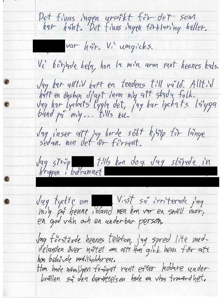 28-åringen har tagit på sig mordet i ett brev.