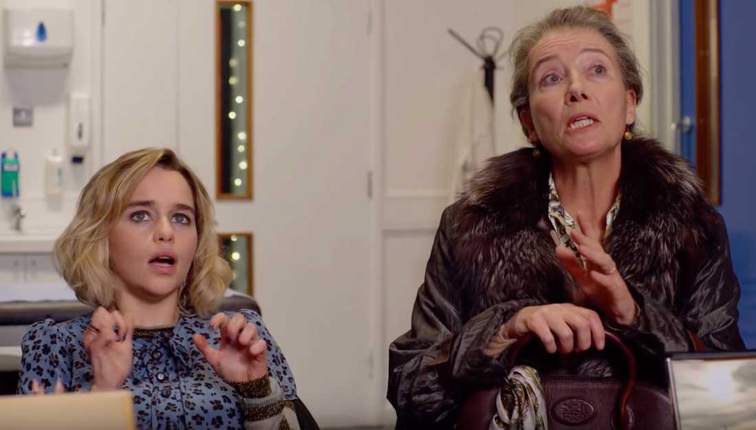 "Emilia Clarke och Emma Thompson i ""Last Christmas""."