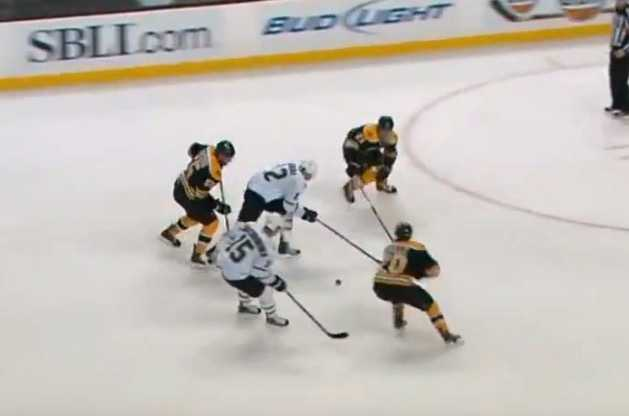 Daniel Paille, här i Boston Bruins, stängdes av fyra matcher efter tackling mot DallasforwardenRaymond Sawadas.