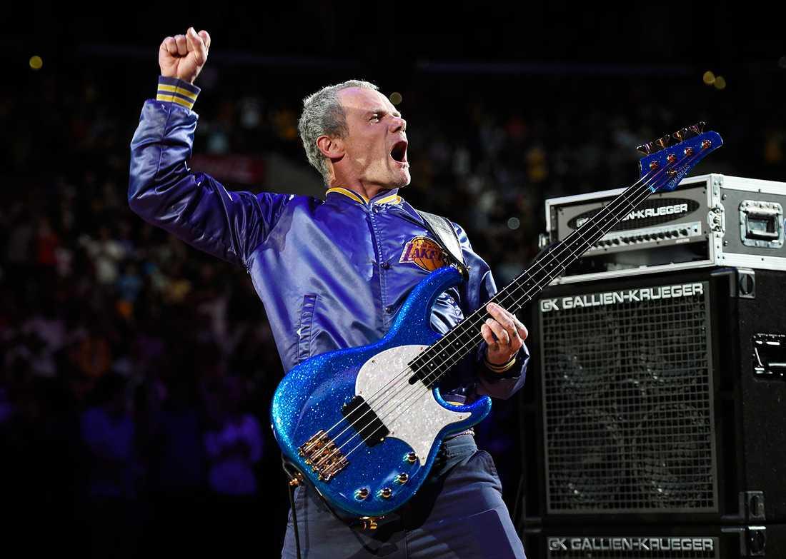 Flea från gruppen Red Hot Chili Peppers.