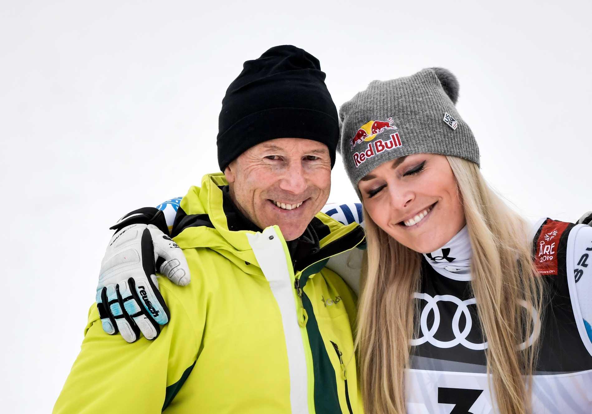 Lindsey Vonn tillsammans med svenske ikonen Ingemar Stenmark.