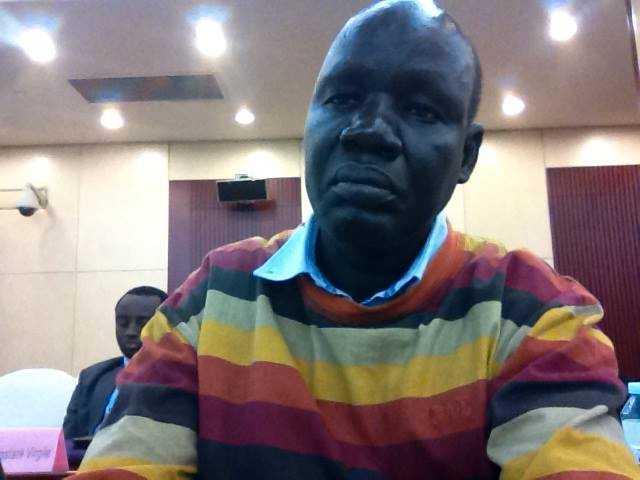 Pastor James Ninrew leder en grupp som beskriver sig som offer för Lundins oljeverksamhet i Sudan.