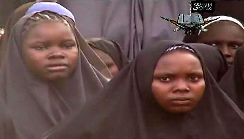 Flickorna kidnappades under en attack mot en flickskola i Chibok i nordöstra Nigeria den 14 april.