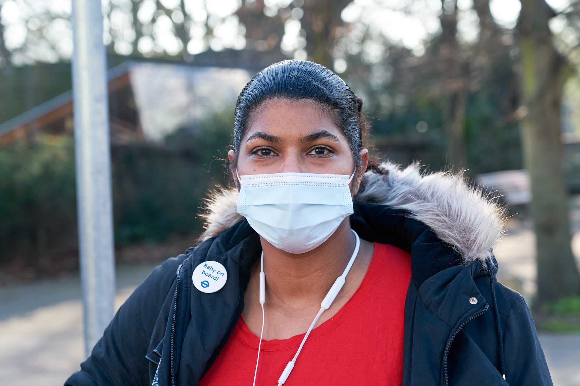 Rehana Ruette ska föda barn i februari, på ett sjukhus tyngt av covidsjuka.