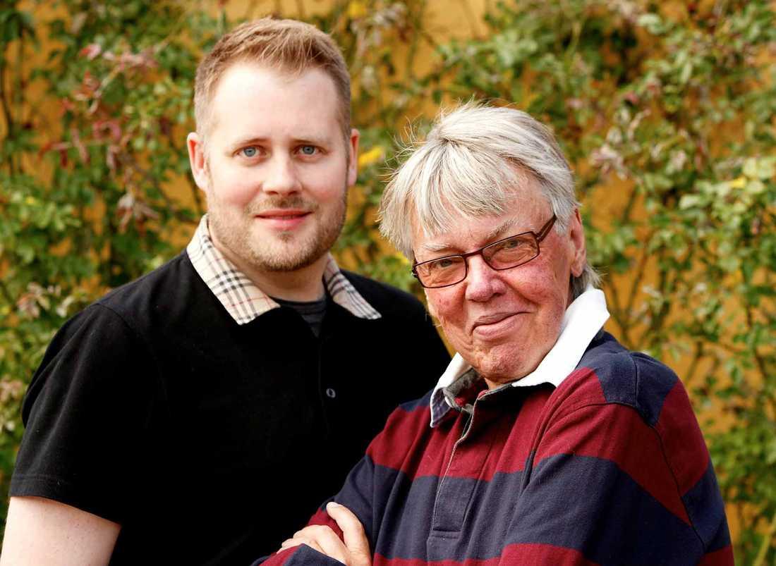 Lasse Flinckman med sambon Henrik Strömberg.
