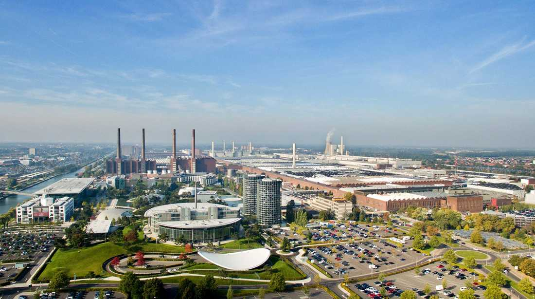 Volkswagens huvudfabrik i Wolfsburg, Tyskland.