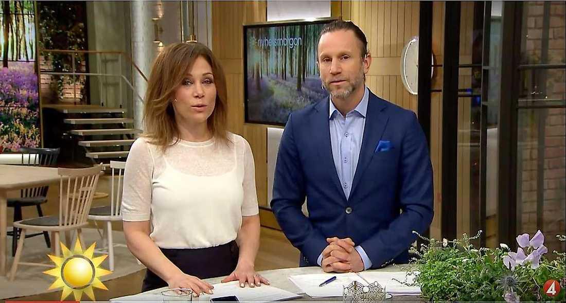 Peter Jihde och Tilde de Paula Eby leder Nyhetsmorgon i TV4