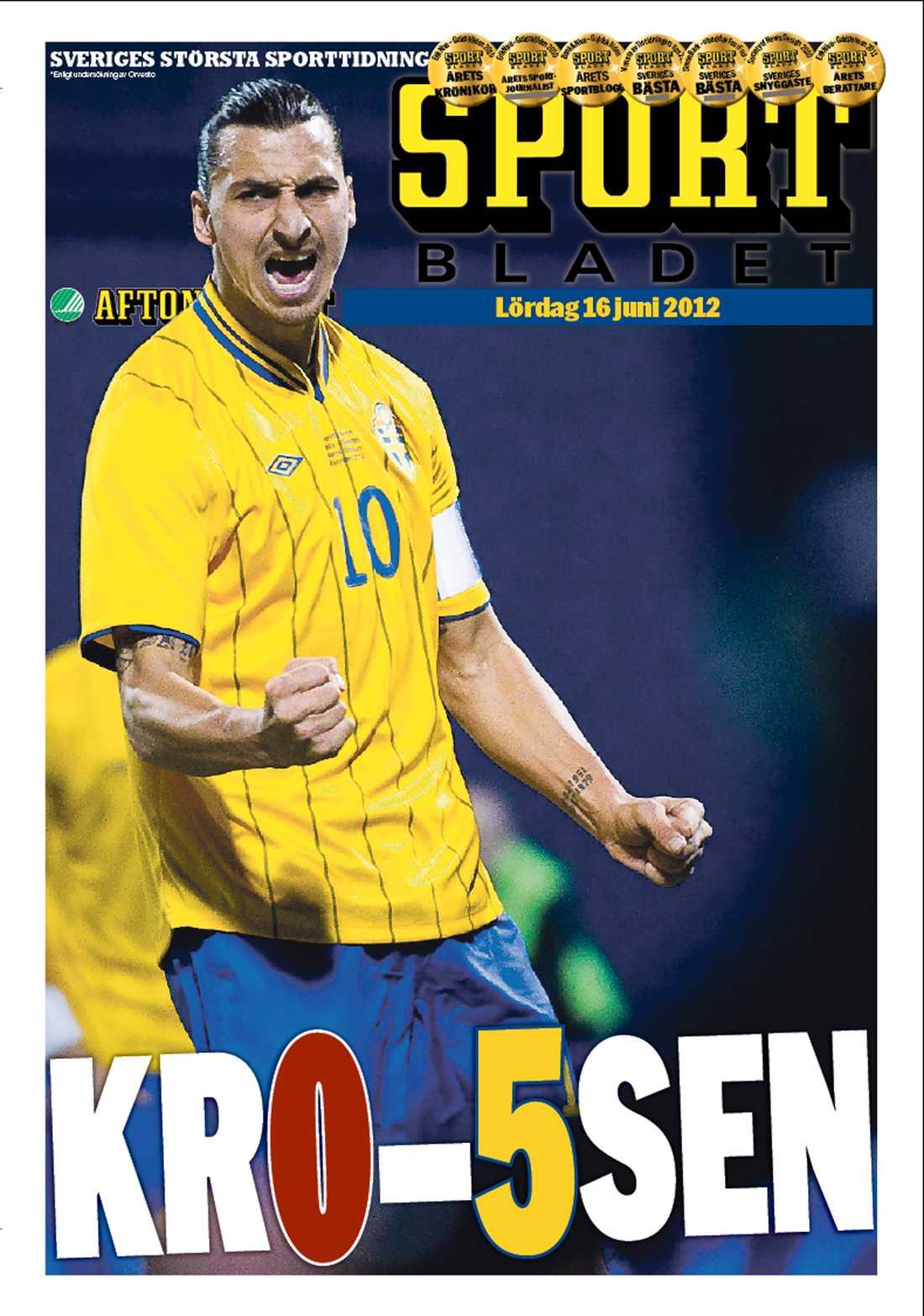 ...och att Sportbladet ser ut så här.