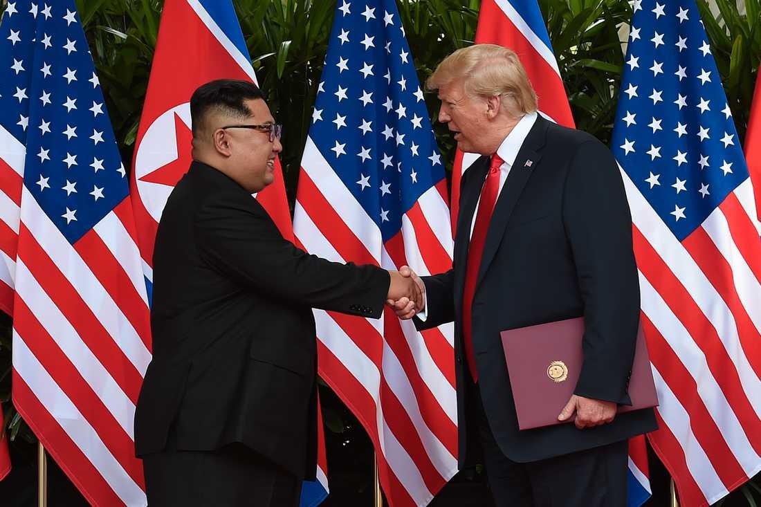 Trump passade på att bjuda in Kim Jong-un till Vita huset.