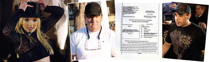 ont blod Britney Spears och hennes familj (här pappa Jamie Spears) stäms av Sam Lutfi.