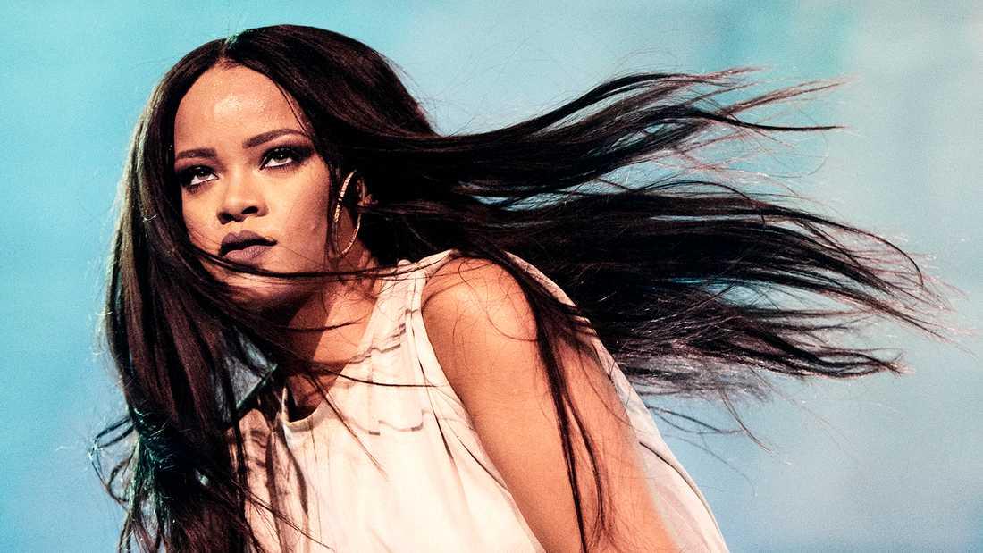Rihanna på Tele2 arena i Stockholm.