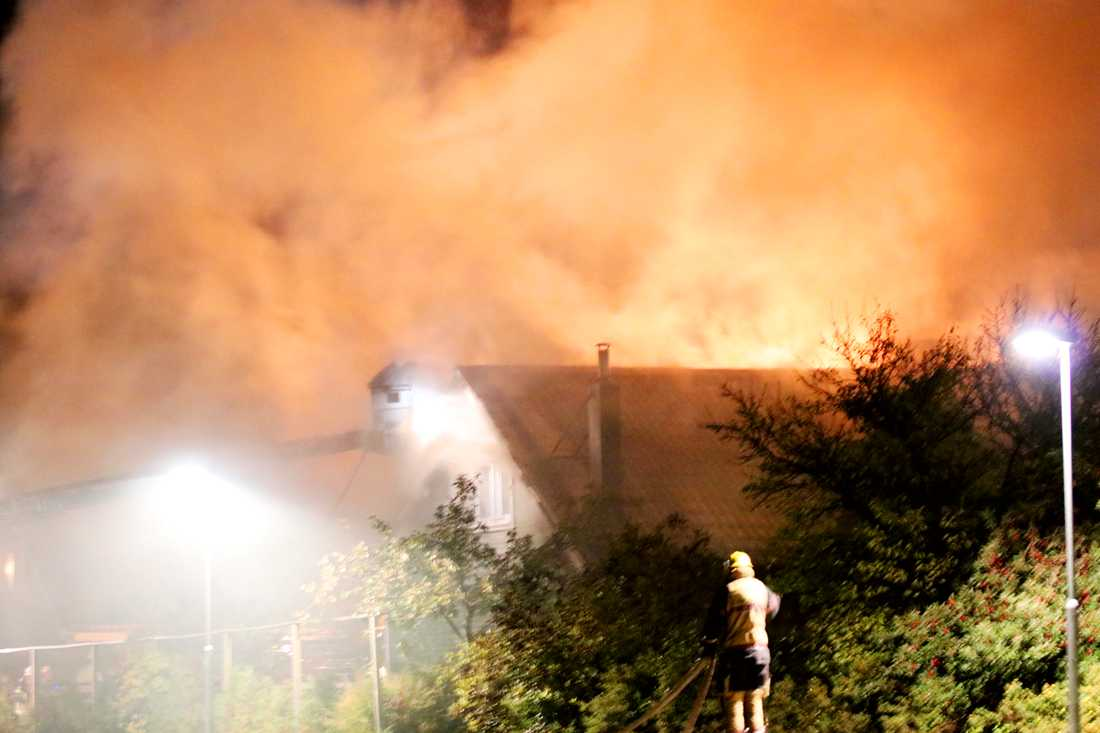 Branden i Åkersberga.