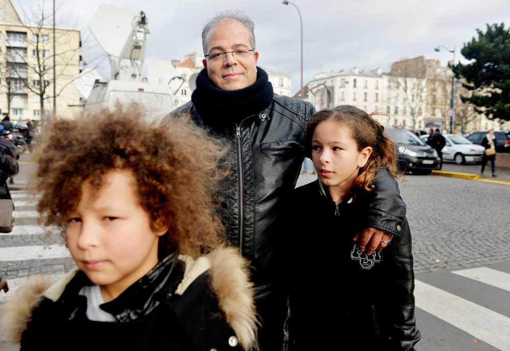Salim Richi med barnen Maiisa och Selim
