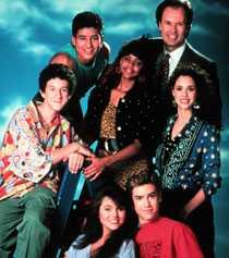 """Medlemmarna i """"Saved by the bell"""" som gick på tv i olika former i USA på 80- och 90-talet."""