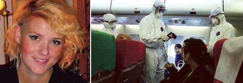 De kinesiska myndigheterna kontrollerar resenärer i Shanghai noga. Anna Pålsson kan isoleras i ytterligare sju dagar.