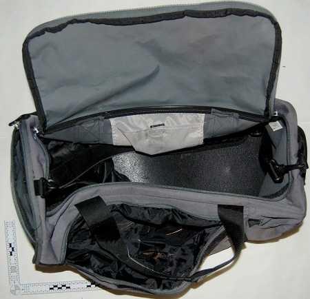 Polisen efterlyser tips om den här väskan.