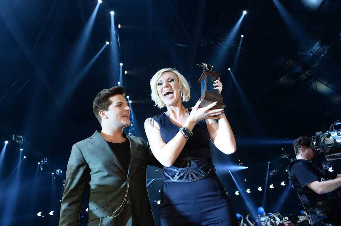 en sanna vinnare Med ynka två poäng drog Sanna Nielsen hem segern i Melodifestivalen.