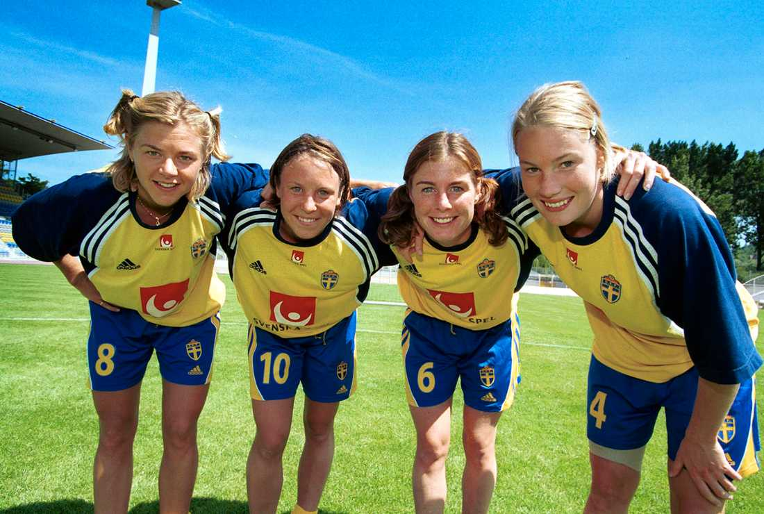 Tina Nordlund, Hanna Ljungberg, Malin Moström och Hanna Marklund