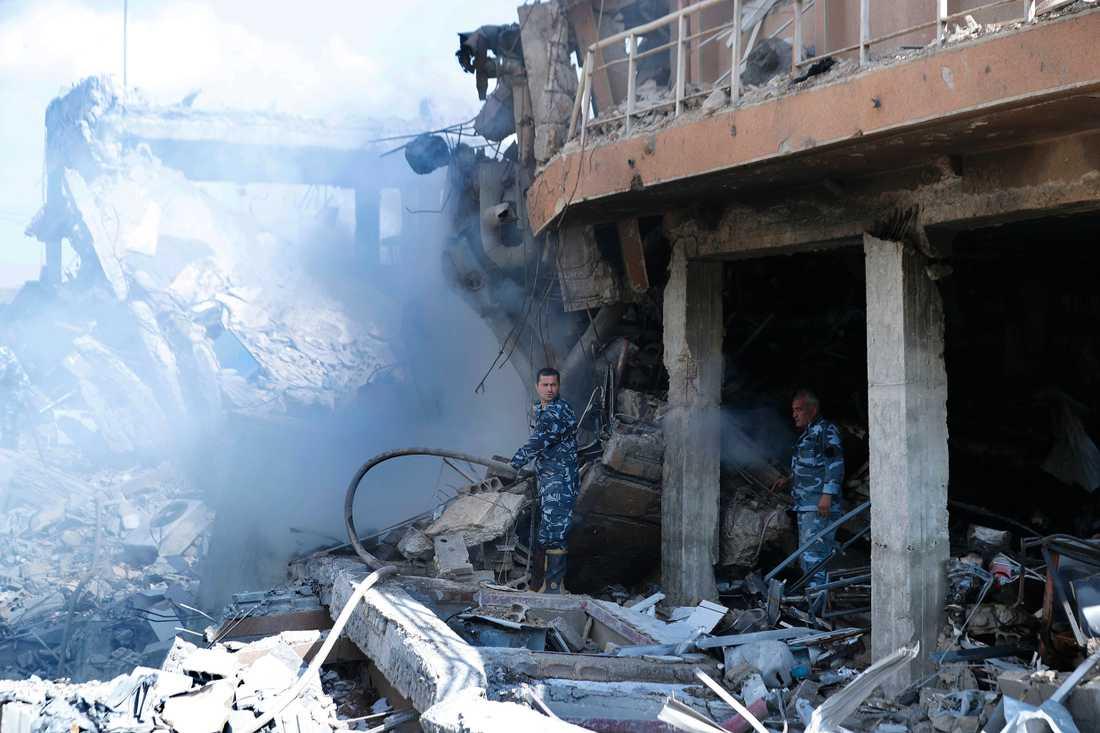 Scientific Studies and Research Centre (SSRC) vid Barzeh distriketet norr om Damaskus. Bilderna tagna vid en presstur som organiserats av Syriska informationsministeriet.