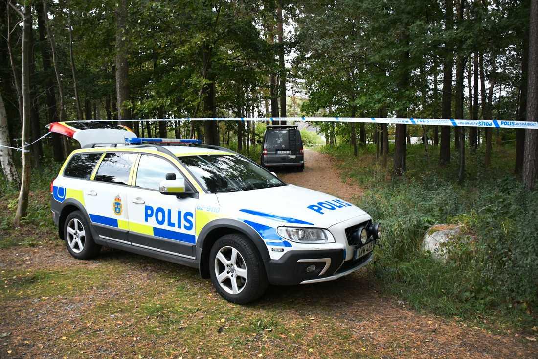 Polisen på plats i Bromölla