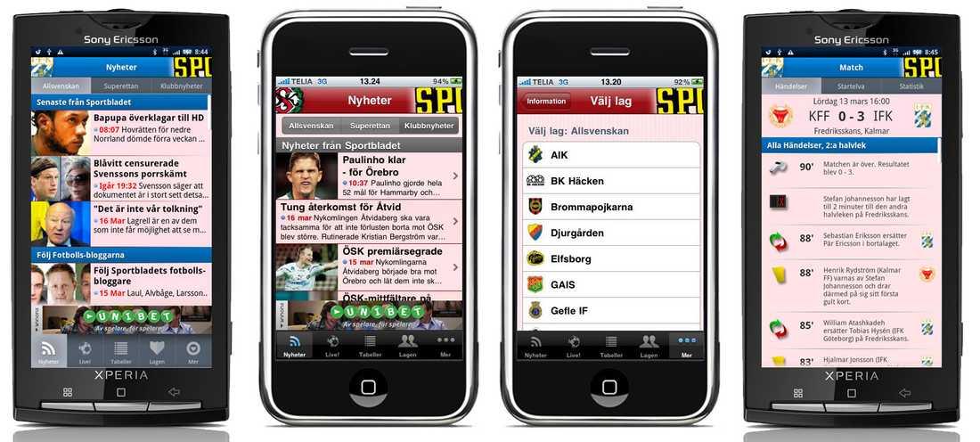 Fotbolls-appen ger dig full koll på Allsvenskan och Superettan och finns för både Iphone- och Android-mobiler.