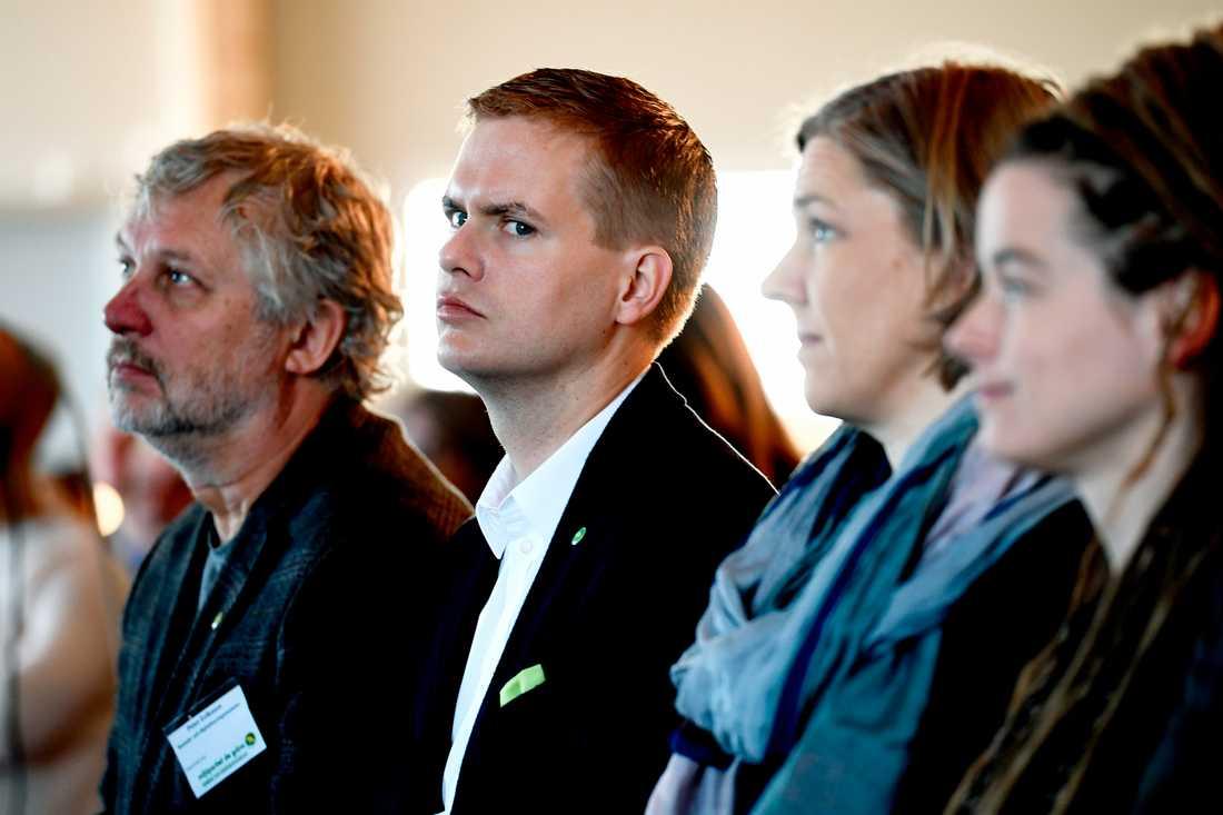 Miljöpartiets kommun- och landstingsdagar i Sundsvall. Språkröret Gustav Fridolin.