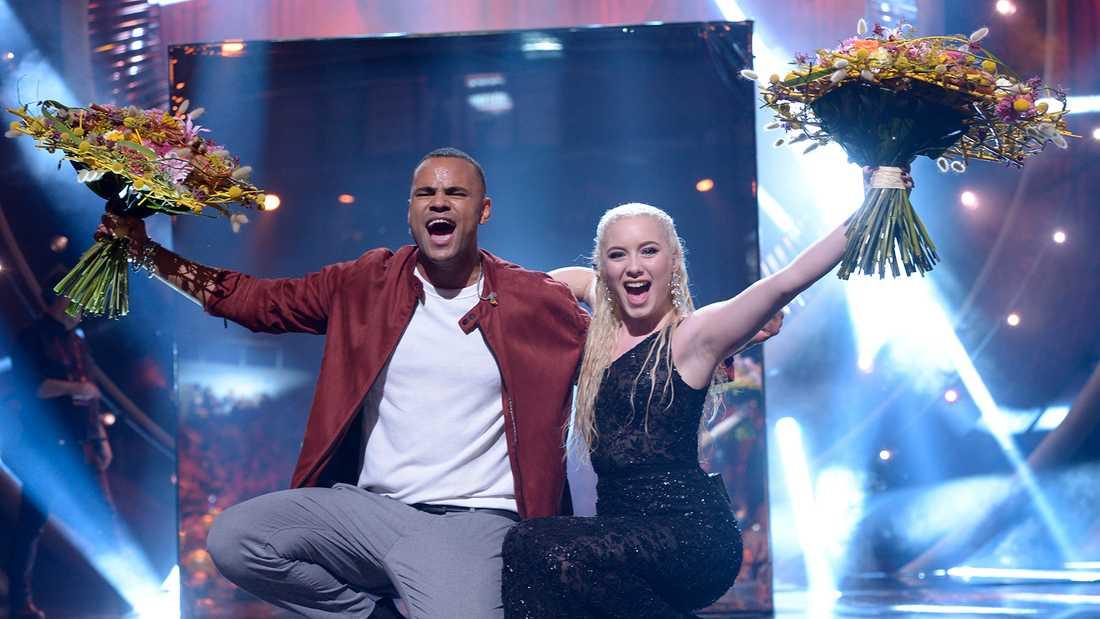 Mohombi och Wiktoria till final i Melodifestivalen 2019.
