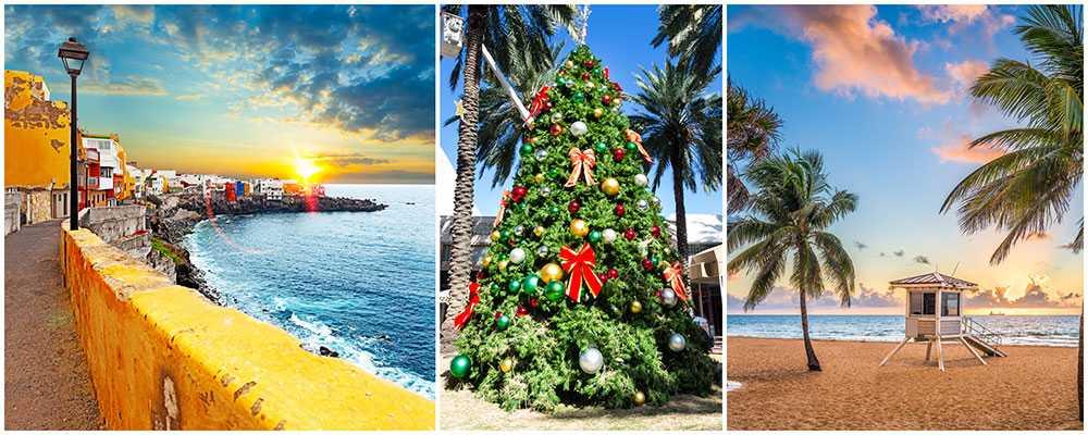 Teneriffa och Miami är två populära resmål i jul.