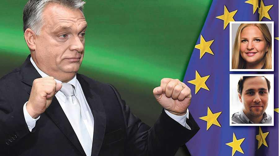 Att svenska skattebetalare är med och finansierar EU-bidragen till Viktor Orbáns Ungern som inte följer EU:s grundregler är oacceptabelt, skriver Arba Kokalari och Benjamin Dousa.