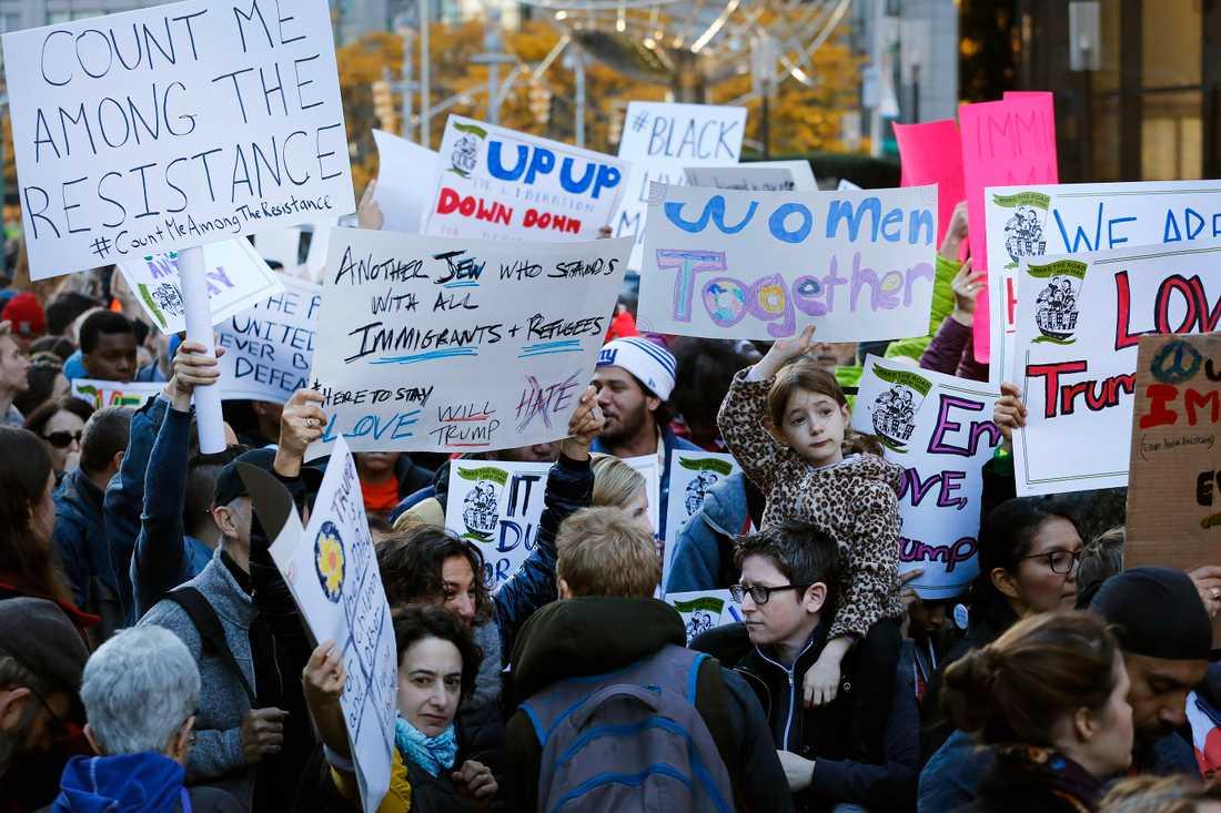 Protester i New York.