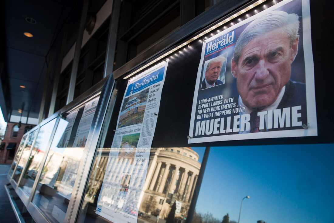 """""""Mueller time"""" – amerikanska medier väntade på resultatet med spänning."""