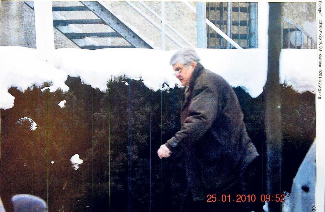 Polisen spanade under en längre tid på Göran Lindberg.