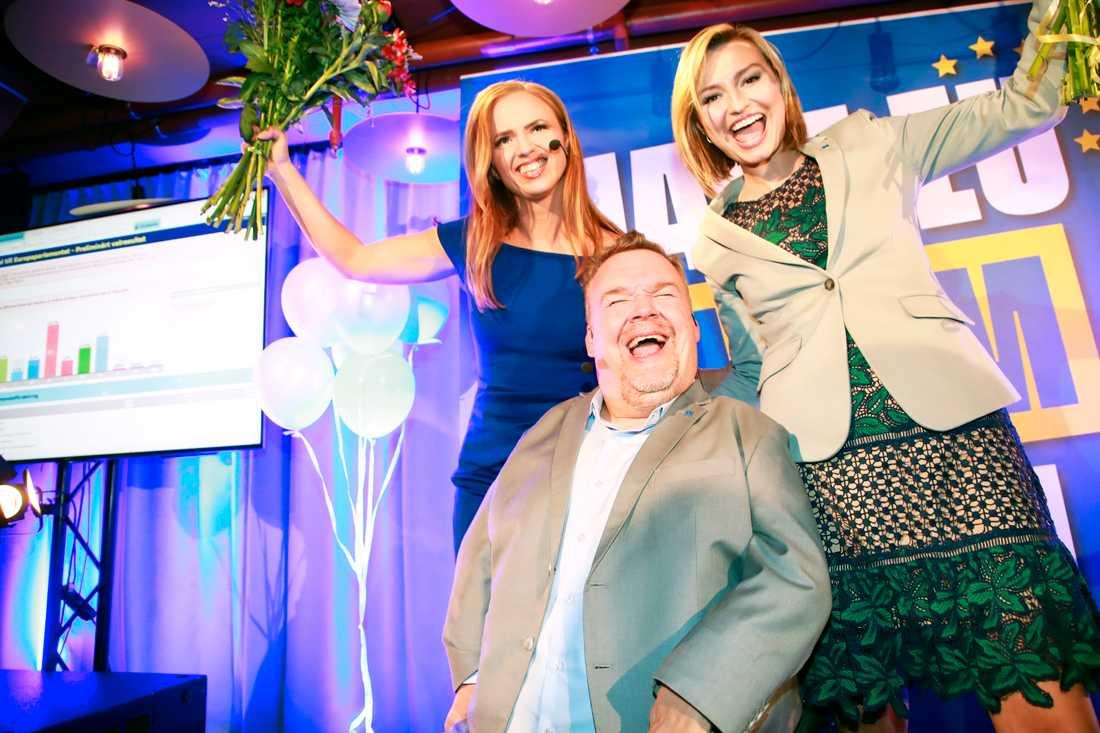 KD:s Sara Skyttedal, David Lega och Ebba Busch Thor.