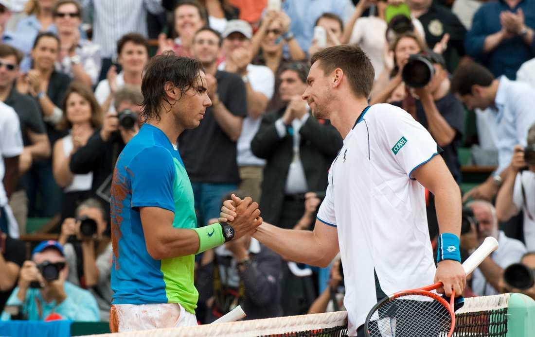Söderling tackar Nadal under finalen i franska öppna 2009