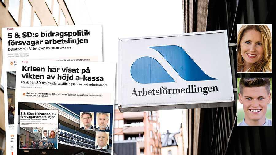 När Sverigedemokraterna nu rycker ut till bidragspartiet Socialdemokraternas försvar och vill höja a-kassan hotar de välfärden och spär på problemen med integrationsmisslyckandet, skriver Josefin Malmqvist och Oliver Rosengren.