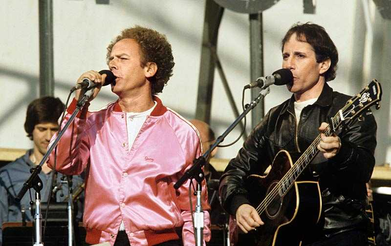 Simon & Garfunkel på Råsunda i Solna 1982.