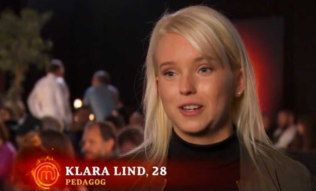 """Klara Lind, känd från Bachelor, gör nu entré som en av deltagarna i programmet """"Sveriges Mästerkock""""."""