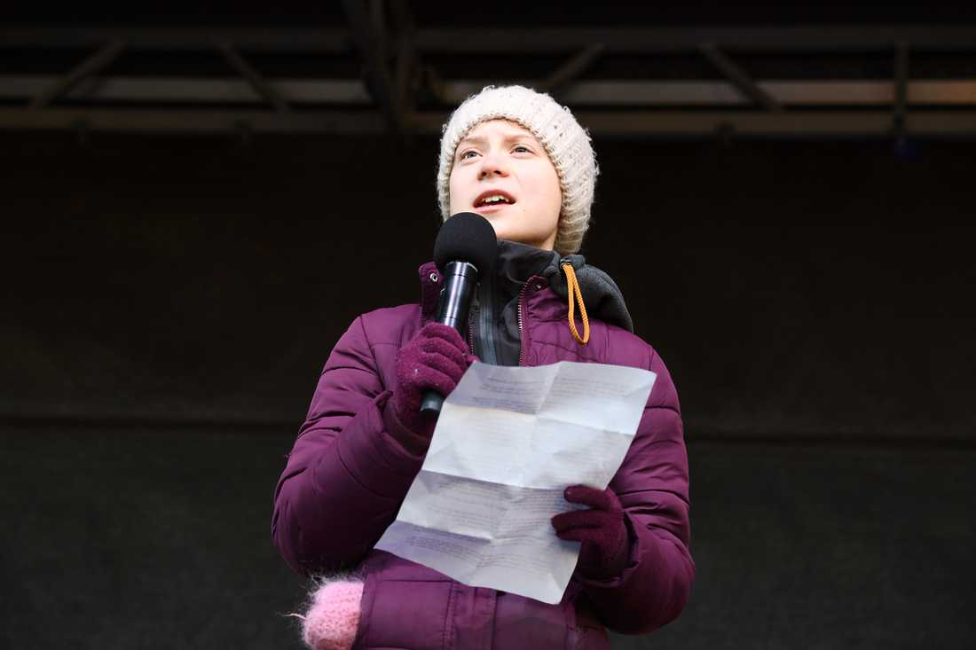 Greta Thunberg har rutit ifrån om klimatfrågan till EU-kommissionen.