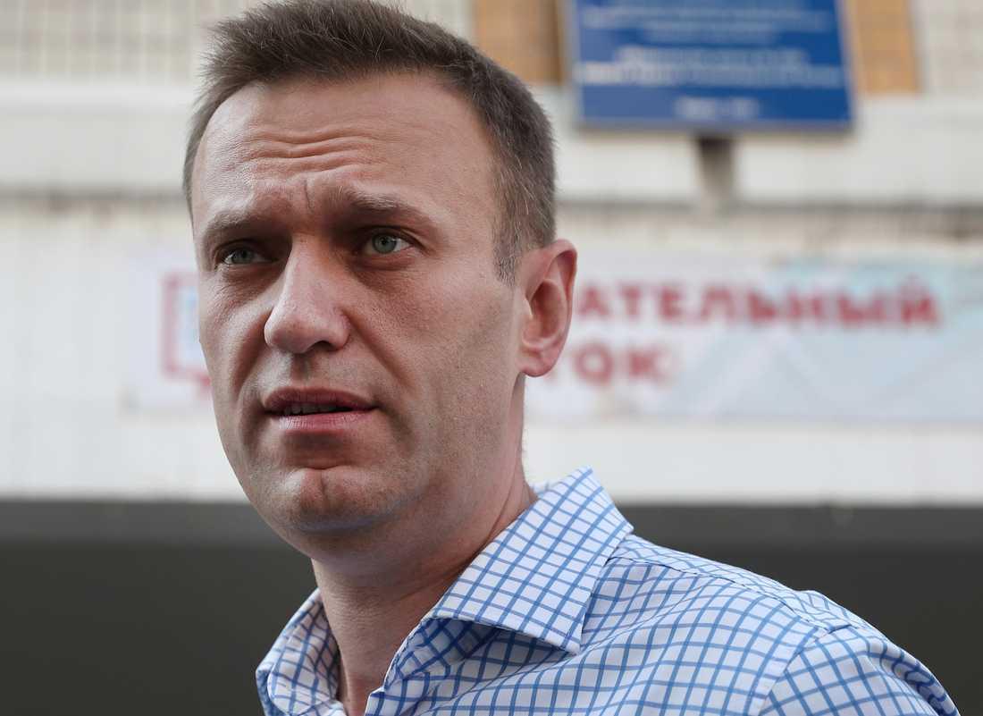 Ryske oppositionsledaren Aleksej Navalnyj. Arkivbild.