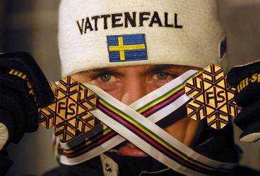 VM- kungen Elofsson. Två guld i skandalmästerskapet i Lahtis 2001.