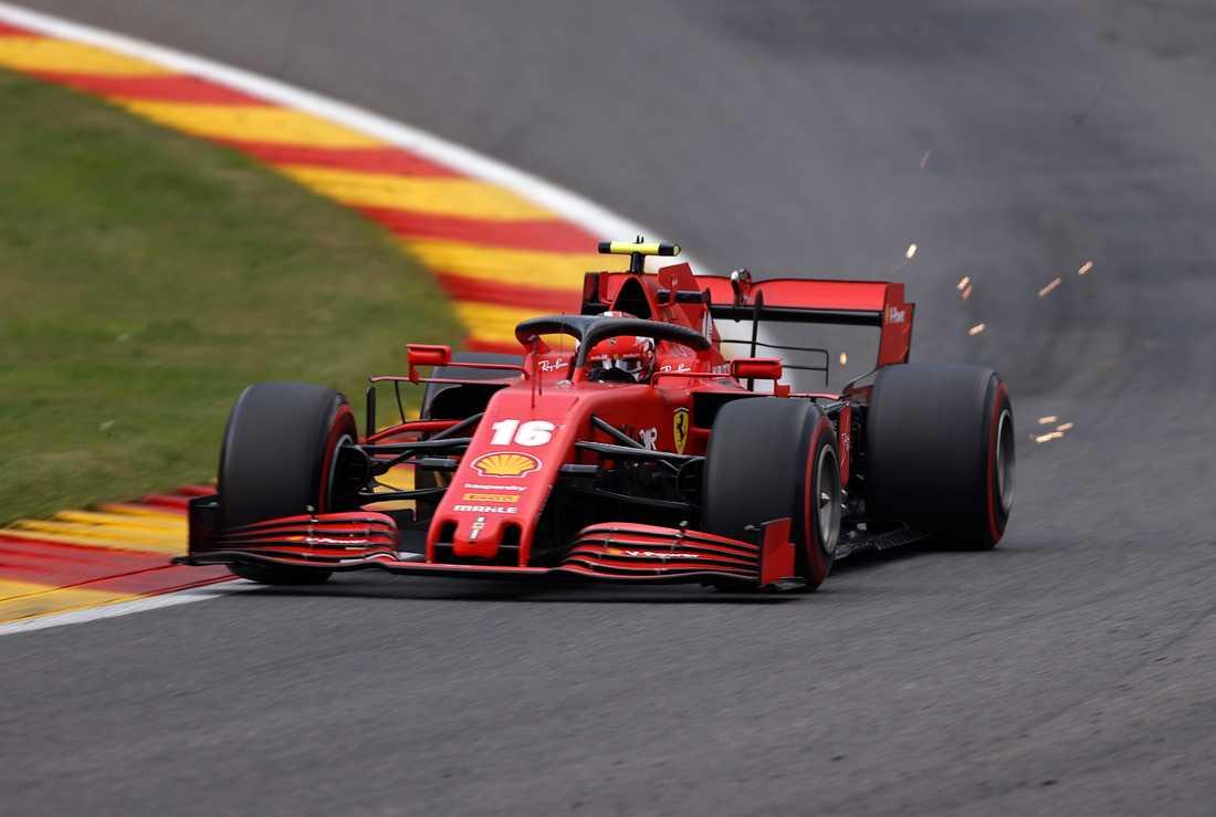 Charles Leclerc och Ferrari hade en ny tung tävling.