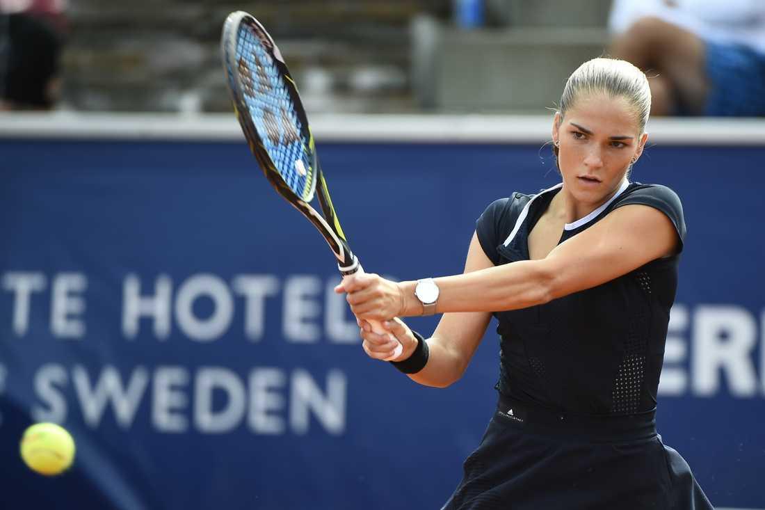 Mirjam Björklund vann sin singel när Sverige besegrade Bulgarien i Fed Cup på fredagen. Arkivbild.